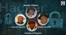 Seriake Dickson, Godswill Akpabio, Emmanuel Uduaghan, and Rotimi Amaechi, some Nigerian governors hacking telephones.