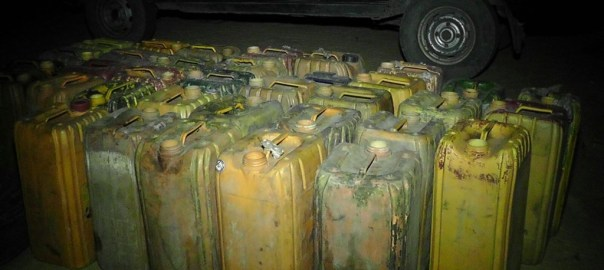 FILE PHOTO of Jerry cans of fuel