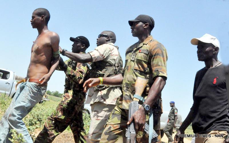 PIC.8. A SUSPECTED BOKO HARAM MEMBER ARRESTED IN MAIDUGURI