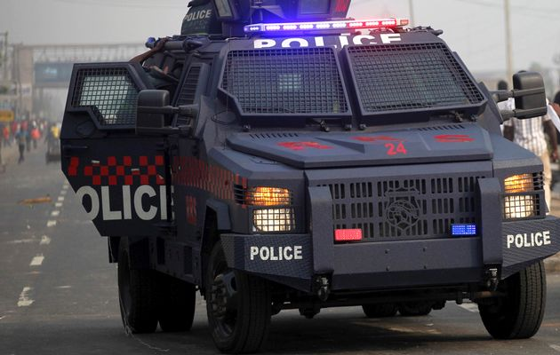 A police van used to illustrate the story