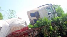 The Dangote truck that caused the collapse