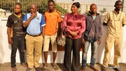 Lagos State Governor's convoy arrested persons driving against traffic at Ijora, on Wednesday, December 16, 2015.
