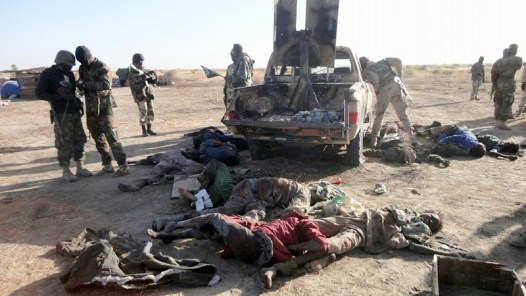 Some of the insurgents that were killed by the Nigerian Army