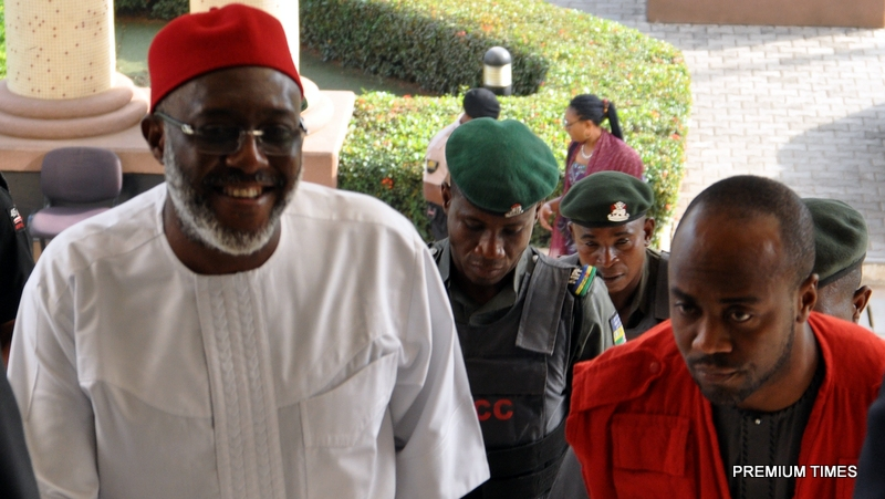 File photo of Olisa Metuh in court