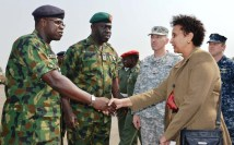PIC.10. U.S DONATES 24 ARMORED PERSONNEL CARRIERS TO NIGERIA IN LAGOS
