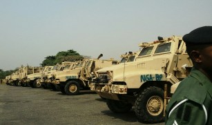 24 mine-resistant armour-protected vehicles handed over to the Nigerian army