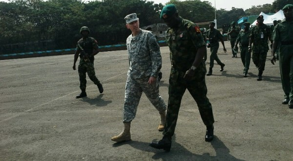 Patrick Doyle with Major-General Barry Ndiomu