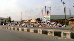 Dump site opposite High Court, Melford Okilo Way Okilo