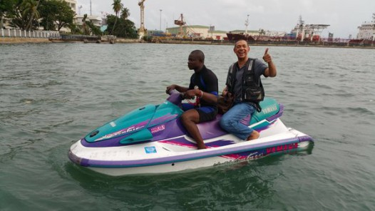 Senator Bruce in Tarkwa Bay, Lagos2