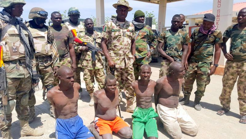 Boko Haram members arrested by the Nigerian Army