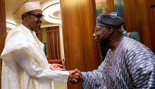 Obasanjo and Buhari at State house 2