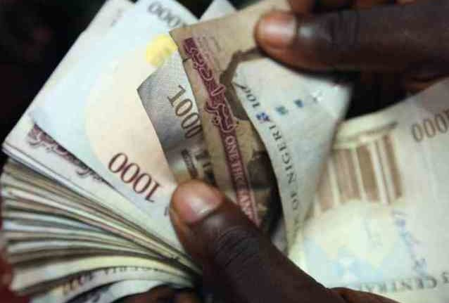 Naira notes used to illustrate market trading