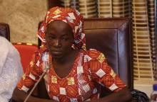 Amina Nkek with buhari