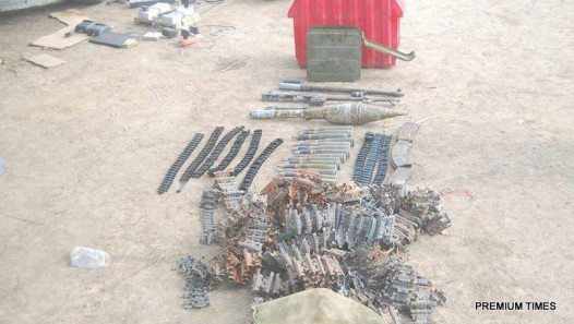 Another round of weapons recovered from Boko Haram2. Photo  credit. Nigerian Army