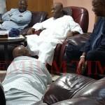 Doyin Okupe prostrating to Obasanjo
