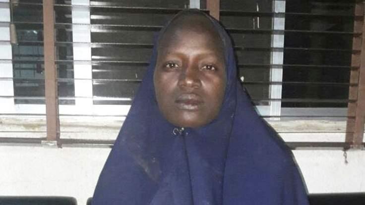 Serah Luka, rescued Chibok girl Photo: Sky News