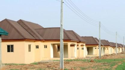 Completed work at the 500 housing unit Kalambaina Estate awaiting commissioning.