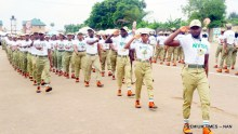 FILE PHOTO: MEMBERS OF THE NATIONAL YOUTH SERVICE CORPS BATCH 'A' STREAM 2 CORPS MEMBERS SERVING IN LAGOS STATE DURING THE CLOSE OF THEIR ORIENTATION PROGRAMME, IN LAGOS ON WEDNESDAY (29/6/16).