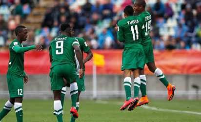 Image result for Flying Eagles battle Nasarawa FC in test game