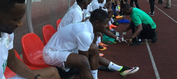 Super Eagles training for a match [Photo credit: NFF]