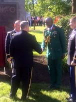 Col. Nengite being introduced to General Milley, the United States Chief of Staff, Army