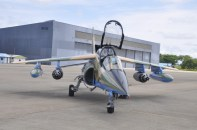 Weaponized NAF alpha jet after arms delivery