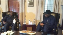 Former President Goodluck Jonathan paid a visit to Kenneth  Kaunda, the former president of Zambia