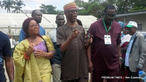 Oyegun heading to the polling unit to cast his vote