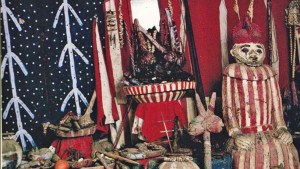 A shrine used to illustrate the story
