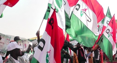 PDP flags used to illustrate the story.
