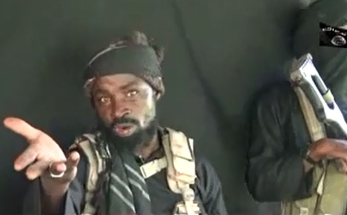 Abubakar Shekau in a recent video