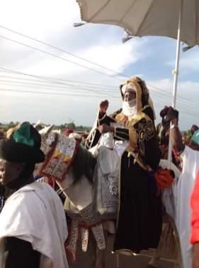 Sarkin Lere HRH. Abubakar II at the Lere Town Sallah Durbar