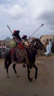 Horsemen in procession at the Zaria Sallah Durbar