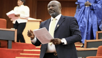 Image result for INEC suspends Dino Melaye's recall process