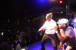 Governor Adams Oshiomhole thrills the crowd with his dancing skills.