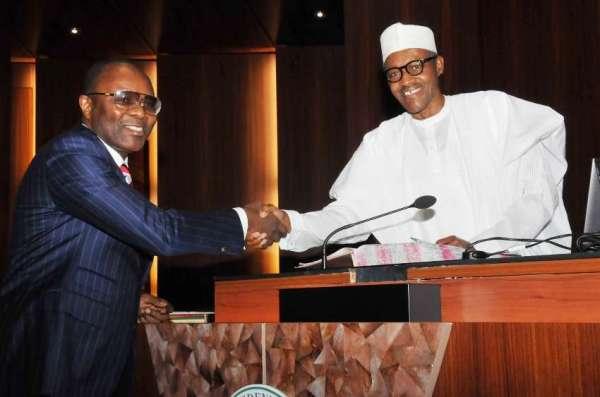 Kachikwu and Buhari [Photo credit: Pulse.ng]