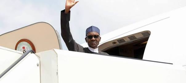 President Muhammadu Buhari in one of his trips.