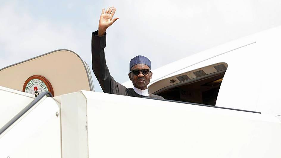 President Muhammadu Buhari in one of his trips.