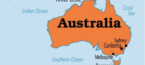 Australia on map [Photo credit: Operation World]