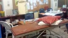Abandoned emergency treatment room