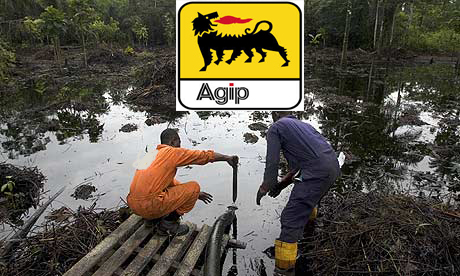 Agip Oil spill hits Bayelsa community [Photo credit: championnews.com.ng]