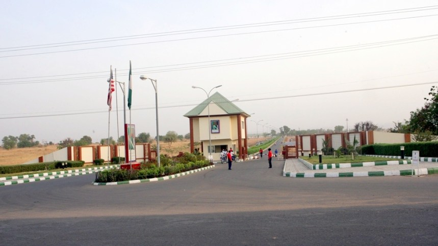 American University of Nigeria, AUN main gate