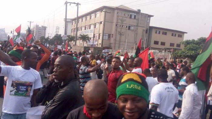 IPOB members in a rally