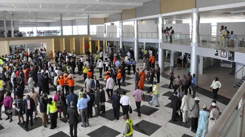 Passengers at the Murtala Muhammed Airport, Lagos