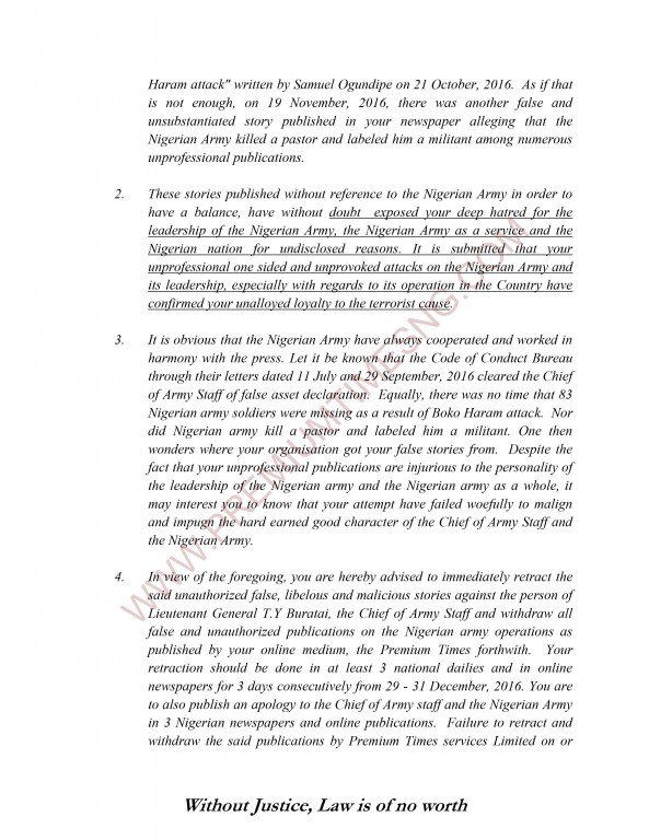 Premium Times Letter to Gen Alkali and Nigerian Army-3