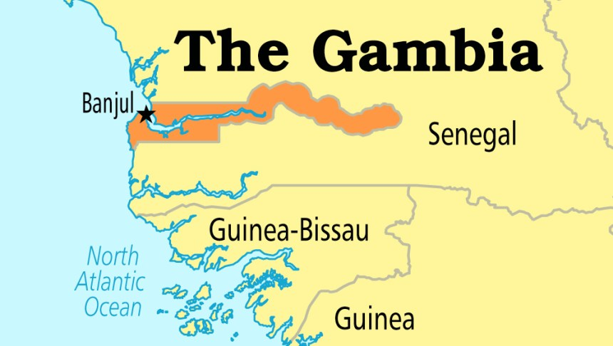 Gambia on Map used to illustrate the story