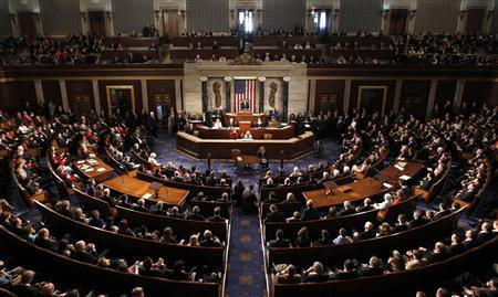 Speaker of the House John Boehner addresses the 113th Congress in the Capitol in Washington January 3, 2013. REUTERS/Kevin Lamarque (UNITED STATES - Tags: POLITICS)