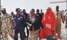 Oby Ezekwesili and Aisha Yesufu in a recent protest