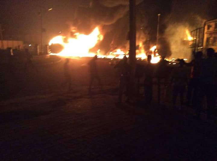 Scene of fire outbreak
