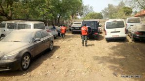 FILE PHOTO: Some of the cars recovered by the EFCC warehoused by the ex-Customs Boss